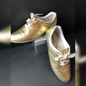 Shoes - Gold Metallic Tennis Shoes